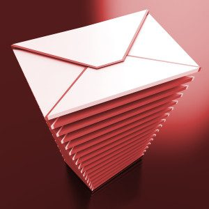 Envelopes Showing E-mail Message Inbox And Outbox Mailbox