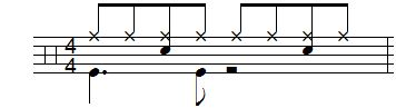 Revelation of syncopation - Ex1 - notation and tab
