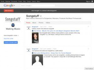 Songstuff google-plus